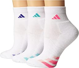 adidas - Cushion Variegated 3-Pair Quarter Sock