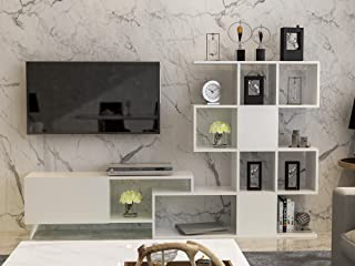 Decorotika Rosta Modern TV Stand and Entertainment Center for TVs up to 55