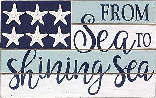 youngs Inc Wood/Resin Starfish Box Sign, Multi