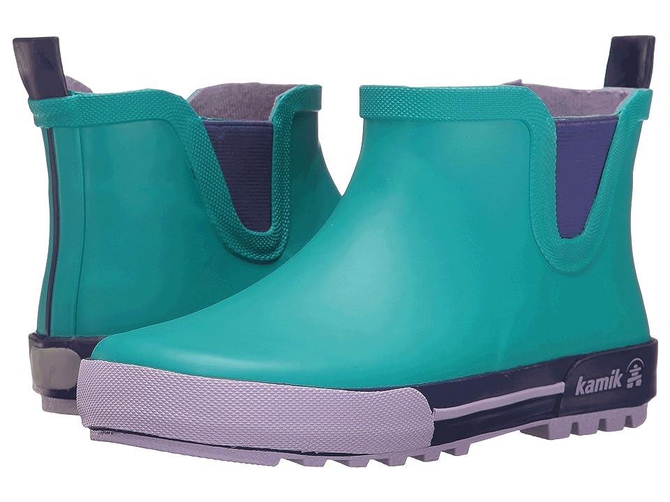 Kamik Kids Rainplaylo (Little Kid) (Teal/Lavender) Girls Shoes