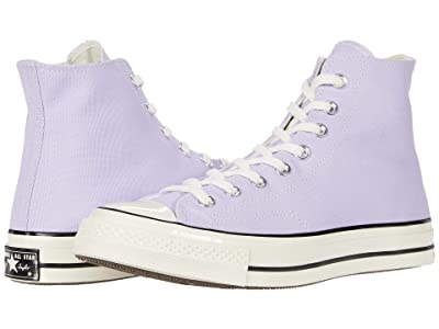 Converse Chuck 70 Vintage Canvas Hi (Moonstone Violet/Black/Egret) Classic Shoes
