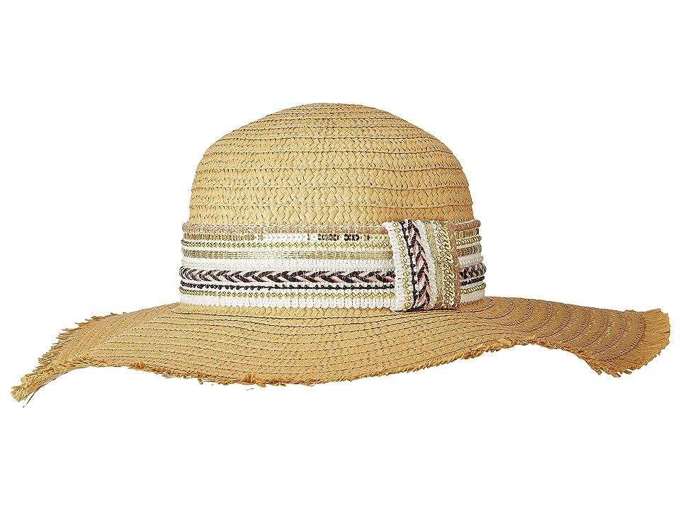 Steve Madden Gold Rush Floppy Hat (White) Caps