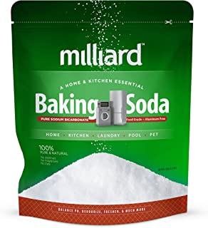 Milliard 5lbs Baking Soda/Sodium Bicarbonate USP - 5 Pound Bulk Resealable Bag