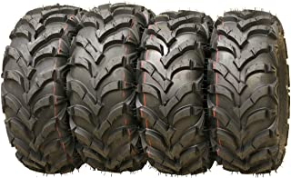 Set of 4 WANDA ATV/UTV Tires 25X8-12 25X10-12 P341 Solid Deep Tread for 1993-2004 YAMAHA KODIAK 400