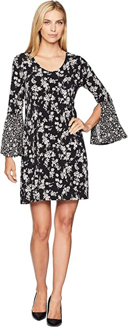 Contrast Print Taylor Dress