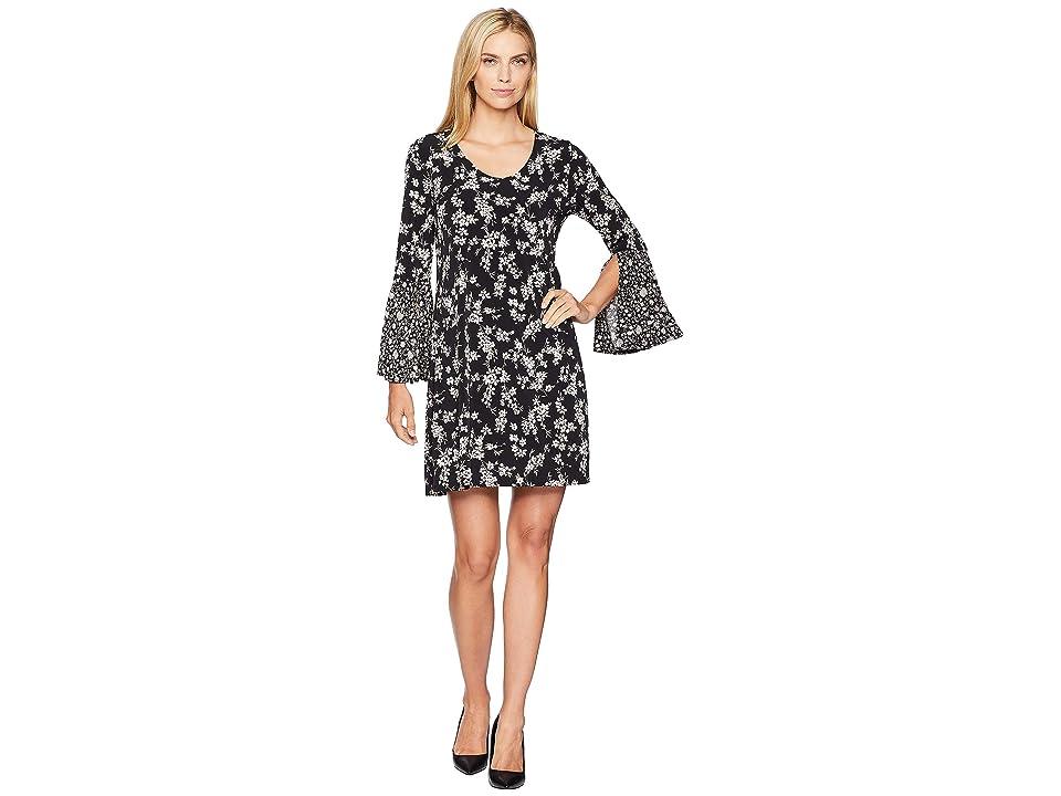 Karen Kane Contrast Print Taylor Dress (Floral) Women