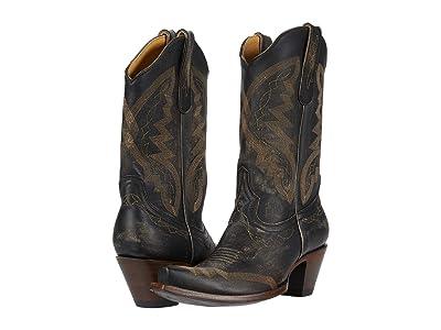 Old Gringo Peyton (Rustic Beige/Black) Cowboy Boots