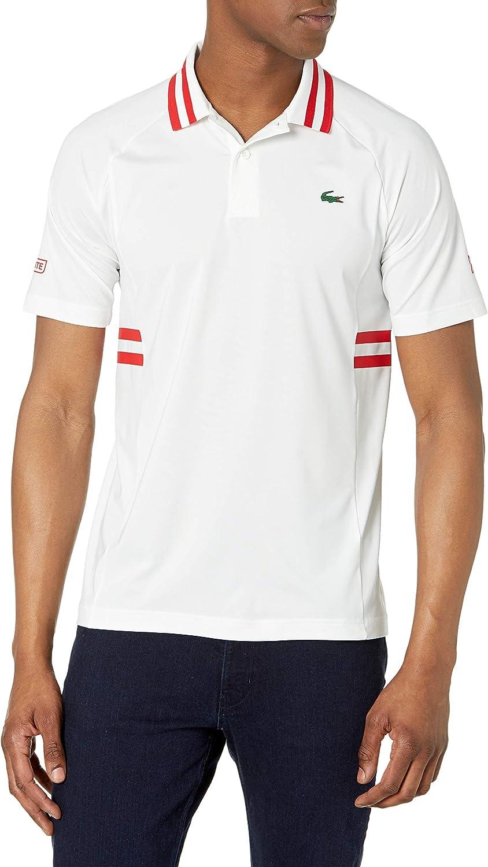 限定品 Lacoste Men's Sport Novak Djokovic Fancy Technical Jersey Semi P 迅速な対応で商品をお届け致します