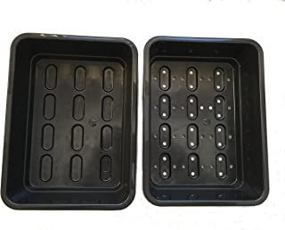 Sponsored Ad - Seedling Starter Trays - Microgreen and Wheatgrass Growing Tray Kit - Drip Tray and Tray with Holes