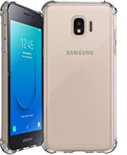 Shockproof Slim Hybrid Case w/Air-Pocket Corners+Easy Grip Bumpers Cover Compatible with Samsung Galaxy J2 / J2 Core (SM-J260T) 2018 Release - Transparent Clear