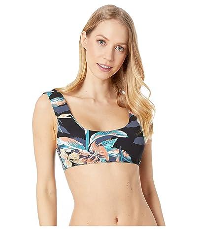 Roxy Printed Beach Classics Bralette Bikini Top (Anthracite Tropicoco) Women