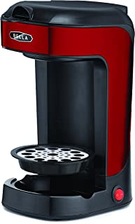 BELLA BLA14485 14485 Scoop One Cup Coffee Maker, Red and Stainless Steel, 8.5 x 10.3 x 5.1 inches
