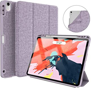 Soke iPad Pro 11 Inch 2018 Case with Pencil Holder, Premium Trifold Case [Strong Protection + Apple Pencil Charging Supported], Auto Sleep/Wake, Soft TPU Back Cover for New iPad Pro 11