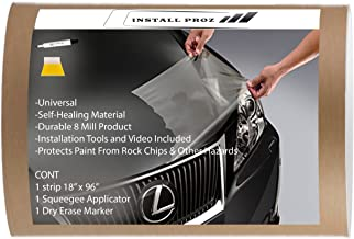 "Install Proz Self Healing Universal Clear Paint Protection Bra Hood and Fender Kit (18"" x 96"")"