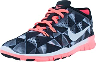 womens Free 5.0 TR Fit 5 Printed Training Shoes-Black/White/Lava Glow-8