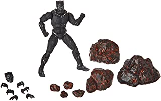 Bandai Black Panther Movie Figure and Set Rock Effects, Black, 15 cm