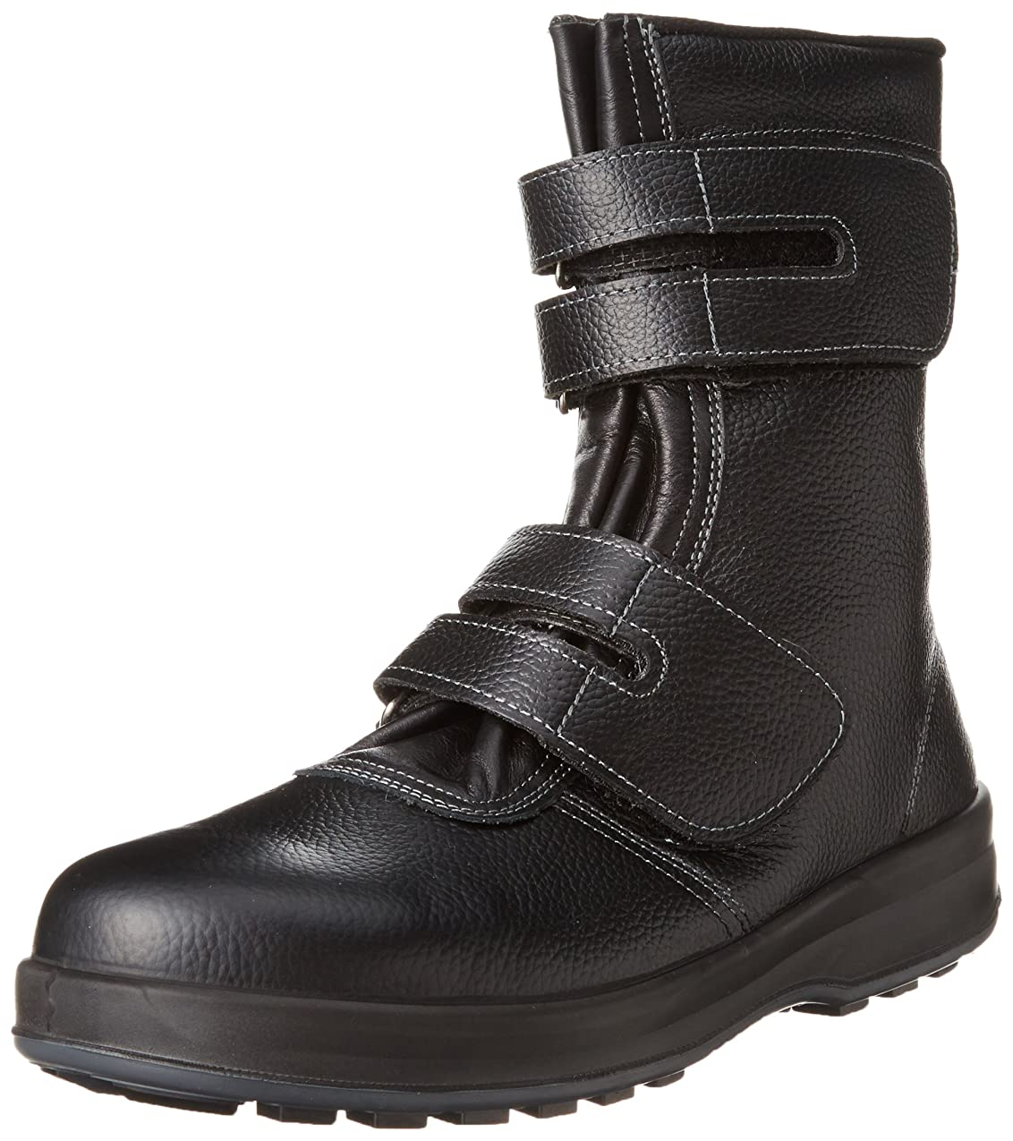 [シモン] 安全靴 長編上 マジック JIS規格 耐滑 快適 軽快 WS38黒