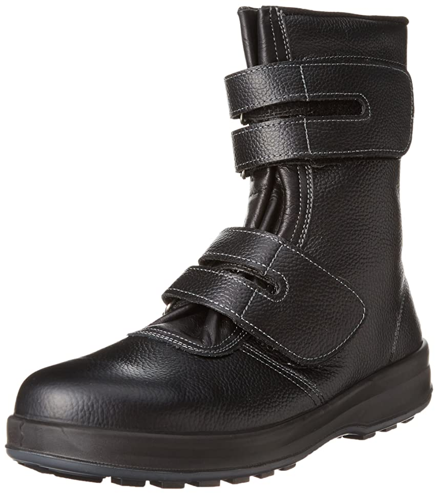 モス男らしさ合理化[シモン] 安全靴 長編上 マジック JIS規格 耐滑 快適 軽快 WS38黒