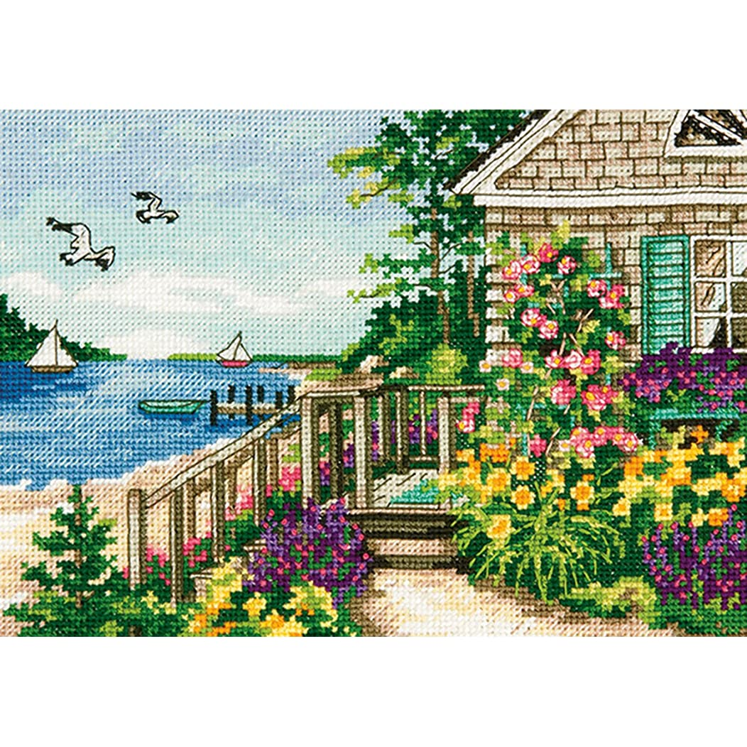 Dimensions Bayside Cottage, 7 by 5-Inch