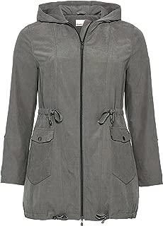 sheego Mantel stylischer Damen Lederimitat-Mantel mit Bindeband Zimt Sale