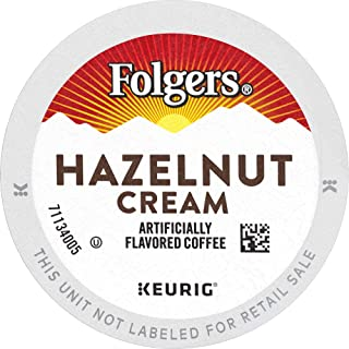 Folgers Hazelnut Cream Flavored Coffee, 96 K Cups for Keurig Coffee Makers