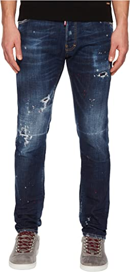 Dark Red Spray Wash Cool Guy Jeans