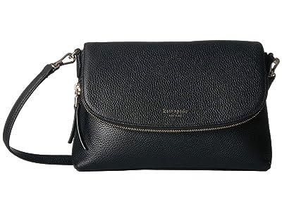 Kate Spade New York Polly Large Flap Crossbody (Black) Handbags
