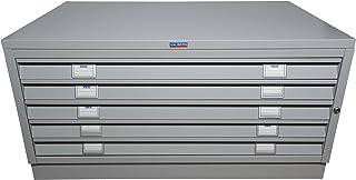 Valberg Placard d'architecte T339, Placard métallique pour Dessins, 42x100x67cm Gris