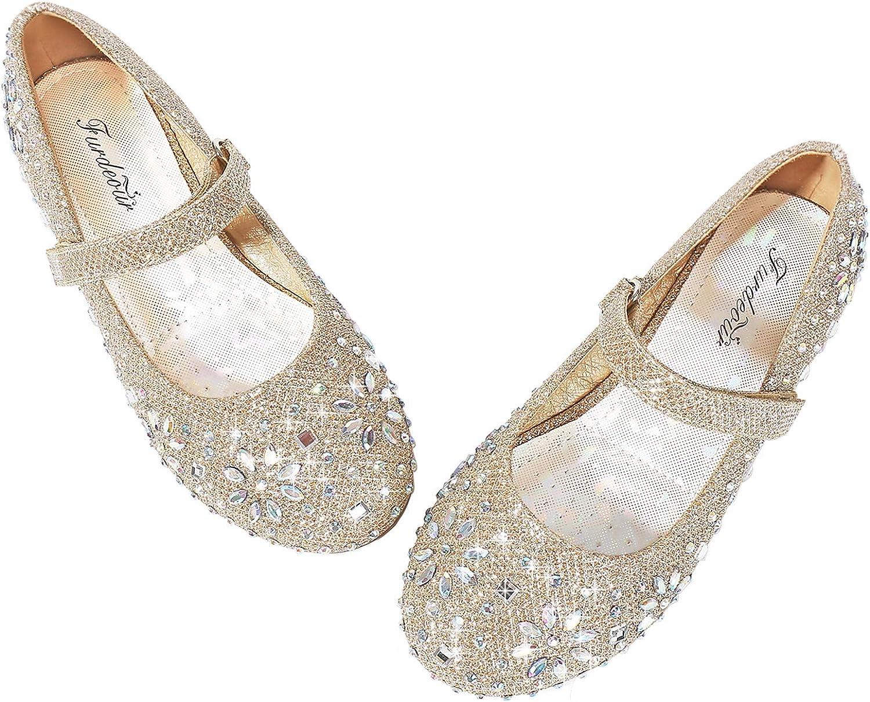 Furdeour Girls shopping Glitter Flats Adorable Dress Princess Weddi Max 62% OFF Shoes