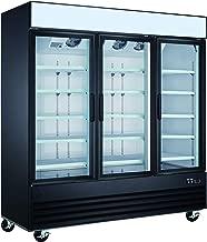 Commercial Grade Merchandiser Refrigerator by Vortex Refrigeration | 3 Self-Closing Doors | Fog Resistant Glass | 72 Cu. Ft. | 12 Adjustable Shelves | For Restaurants | 78.3