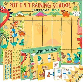 Potty Training Chart for Toddlers – Dinosaur Design with Kids Cartoon - Sticker Chart, 4 Week Reward Chart, Certificate, I...
