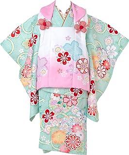 七五三 着物 3歳 被布セット 日本の晴着 陽気な天使 グリーン 3400-00111