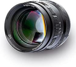 Brightin Star 50mm F1.4 APS-C Large Aperture Manual Focus Lens Mirrorless Cameras Lens (Canon, Black)