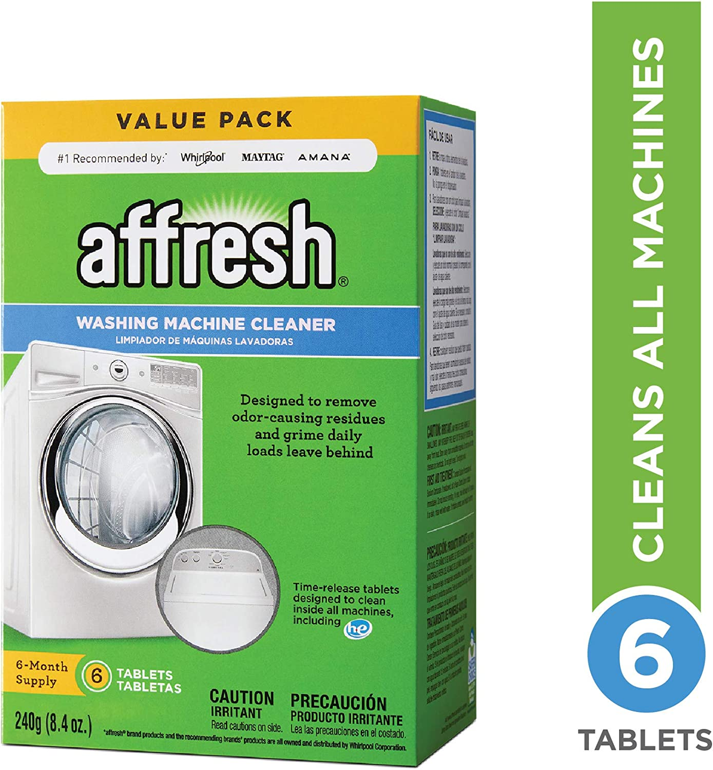 Affresh Washer Machine Cleaner 8.4 Max 82% OFF 6-Tablets New life oz