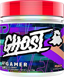 GHOST Gamer Peach (40 Servings) Epic Energy and Focus Support Formula - Nootropics, Natural Caffeine, Sugar Free