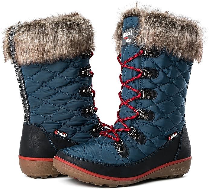 GLOBALWIN Women's Winter Waterproof Snow Boots | Best Ladies Winter Boots