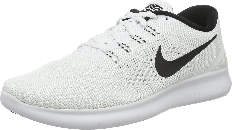 Nike Free RN vit   svart kvinnor springaning springaning springaning skor  mode galleria