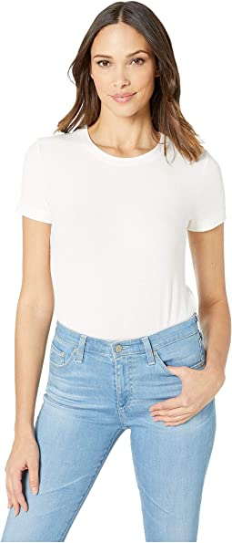 Viscose Rib Short Sleeve Top