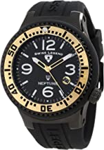 Swiss Legend Men's 21848P-BB-01-GA Neptune Black Dial Black Silicone Watch
