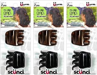 Scunci No-Slip Grip Jaw Clips, 3.5cm, 6 Count