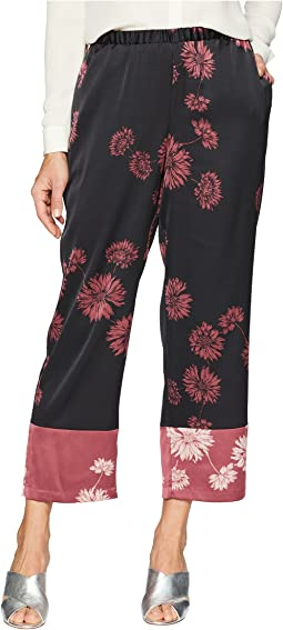 Chateau Sketch Floral Pull-On Pants