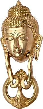 P R I M E - D A Y - Discount - Door Knockers for Front Door Decor Buddha Head Door Knocker in an Antique Finish Vintage Look