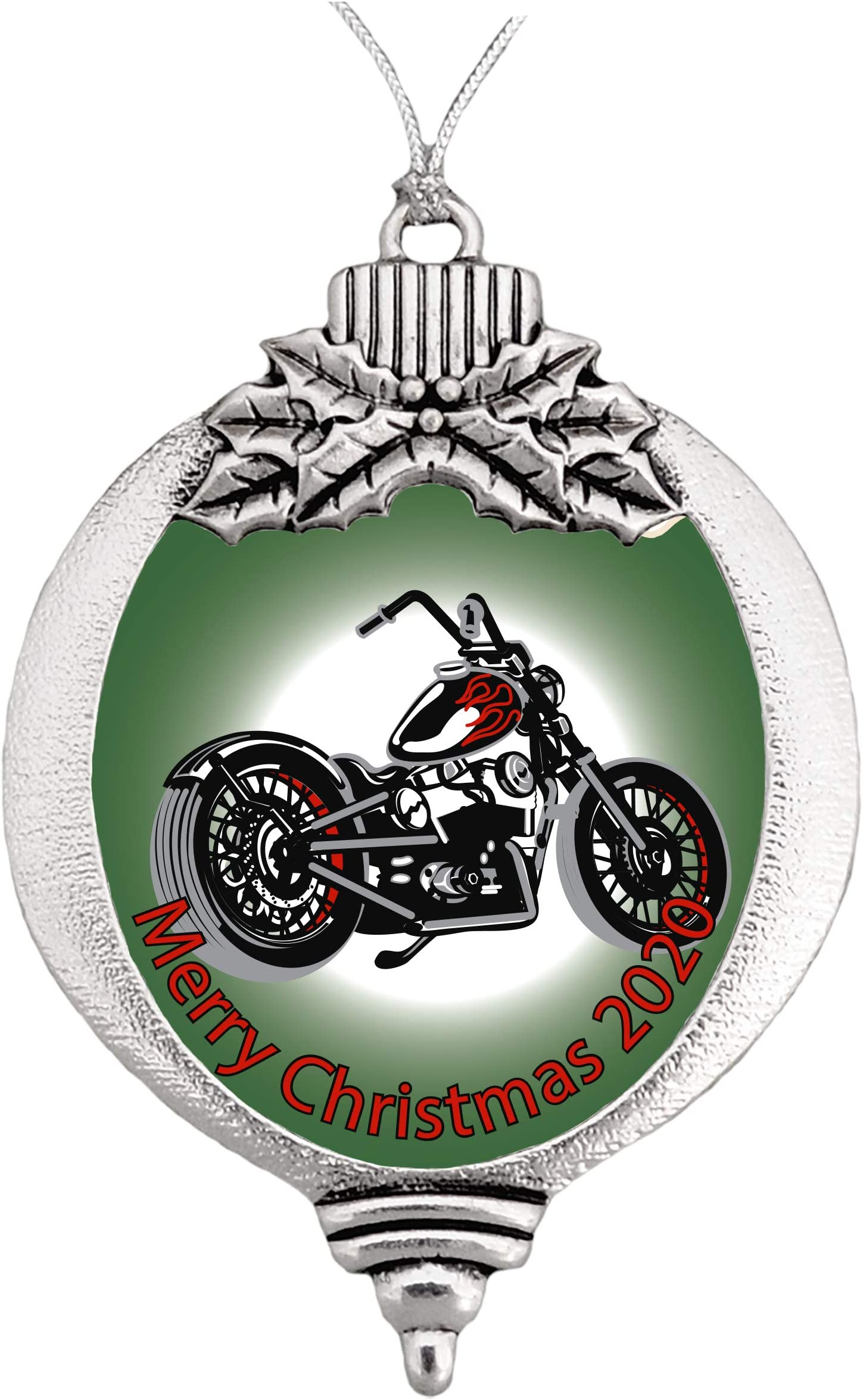 Harley Davidson 105th Anniversary Rare White 2008 Christmas Ball Bulb Ornament
