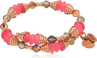 Alex and Ani Women's Haven Wrap Coral Bracelet