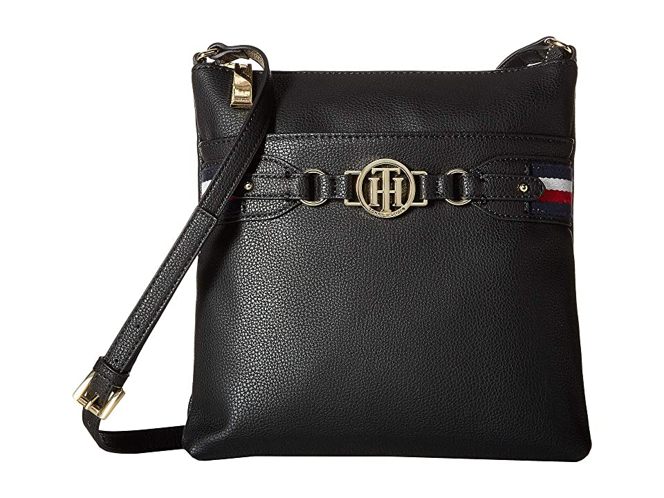 Tommy Hilfiger Brice Large North/South Crossbody (Black) Cross Body Handbags