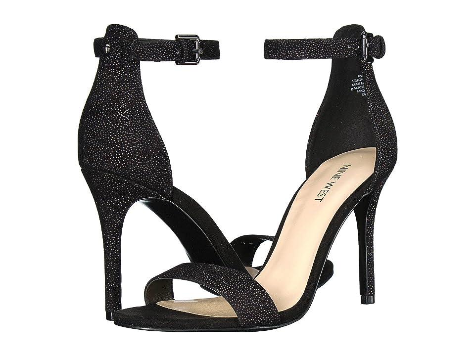 Nine West Mana Stiletto Heel Sandal (Black Multi Leather) High Heels