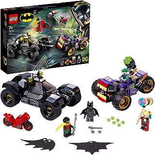 Super Heroes Comics DCBatmanPersecución de la Trimoto del Jokercon el Batmóvil y las Minifiguras de HarleyQuinnyRobin, multicolor (Lego ES 76159)