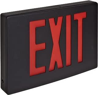 Morris Products 73344 Cast Aluminum LED Exit Sign, Red Letter Color, Black Face Color, Black Housing Finish