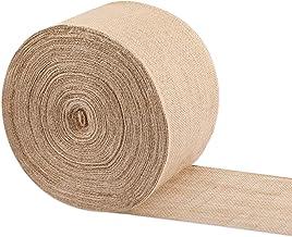 6 Inch Wide 49 Yards Burlap Fabric Natural Jute Fabric Ribbon Crafts Ribbon for Christmas Wedding Burlap Fabric DIY Ribbon...