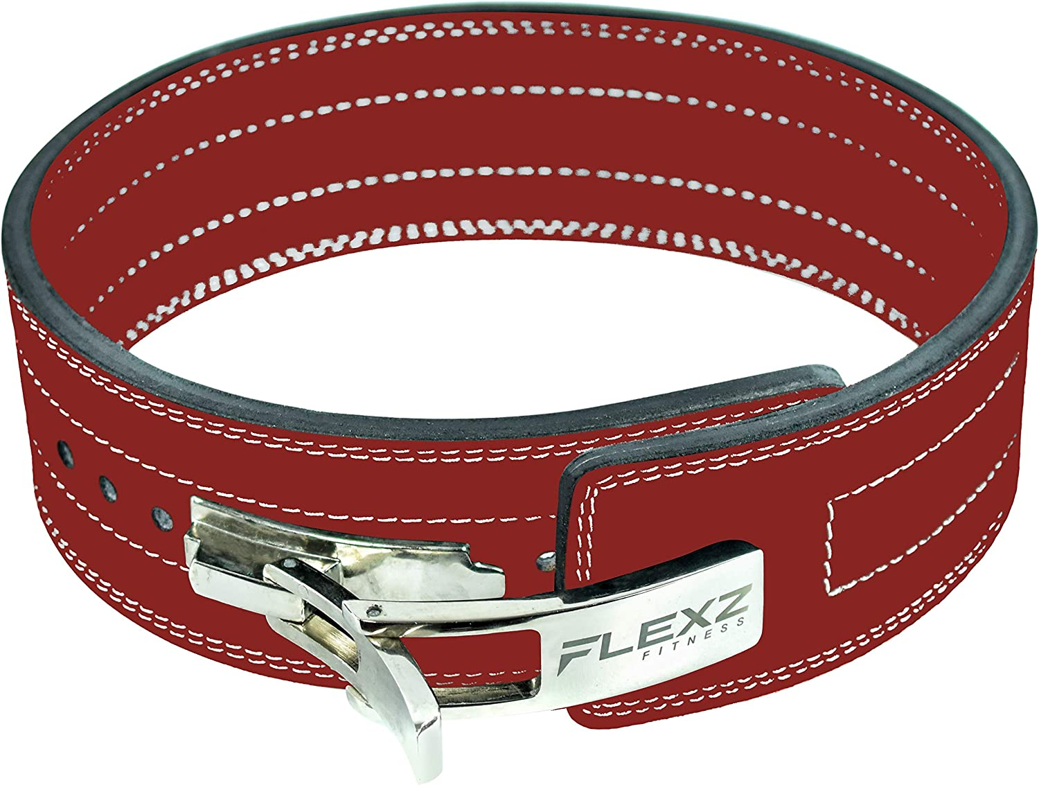 FlexzFitness Leather Power Lifting Belt for Men /& Women Lower Back Support for Weightlifting